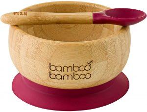 bamboo bamboo suction bowls